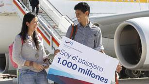 El aeropuerto de Barajas recibe a su pasajero 1.000 millones