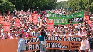 Afectados de Forum y Afinsa se manifiestan en Madrid