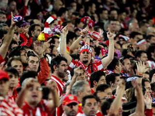 La afición del Atlético, 'de diez'
