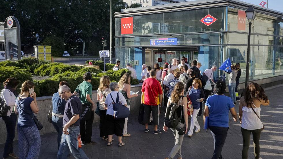 Aglomeraciones en el metro por el paro de los maquinistas