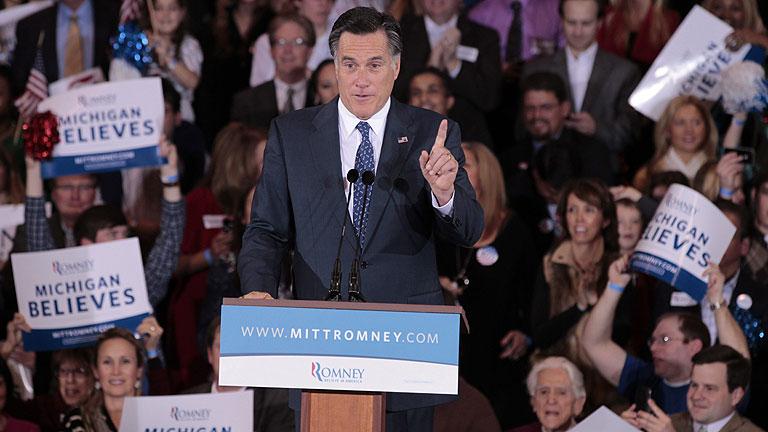 Romney consigue una ajustada victoria en Michigan y arrasa en Arizona frente a Santorum