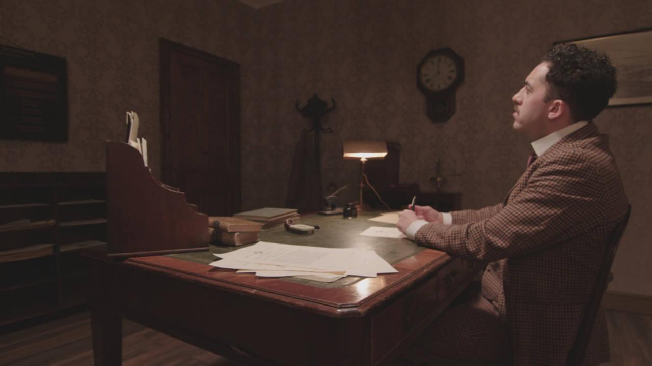 Albert Einstein in office at Institute for Advanced Study