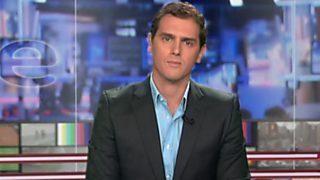 Los desayunos de TVE - Albert Rivera, presidente de Ciudadanos. Josep Manel Busqueta, candidato de la CUP al Parlament de Catalunya