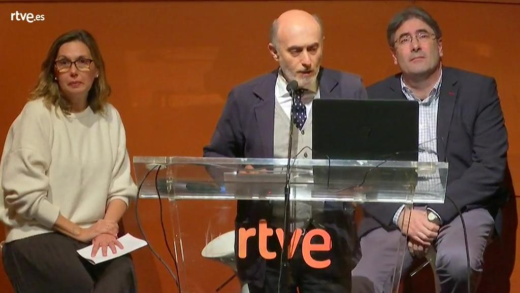 Alberto de Prada, Carmen Pérez y Eduardo Lleida