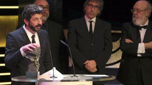 Alberto Rodríguez recibe el Goya 2015 a mejor dirección por 'La isla mínima'