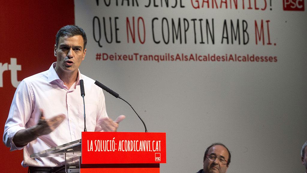 """Los alcaldes del PSC se rebelan contra el referéndum """"ilegal"""" y denuncian """"amenazas"""""""