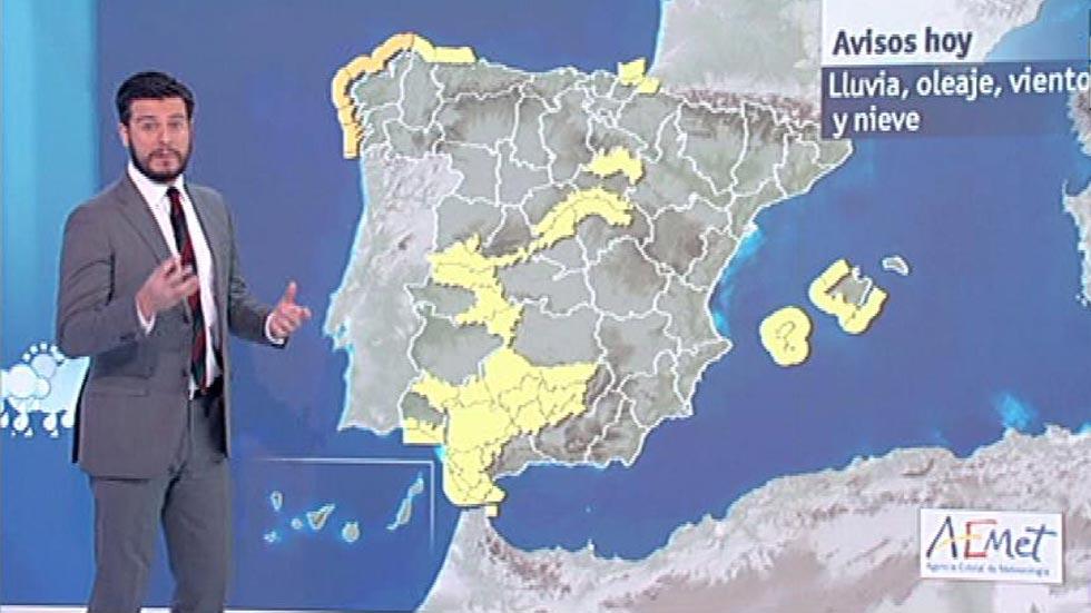 Alerta amarilla por oleaje en Galicia y Baleares, y por lluvia en Andalucía