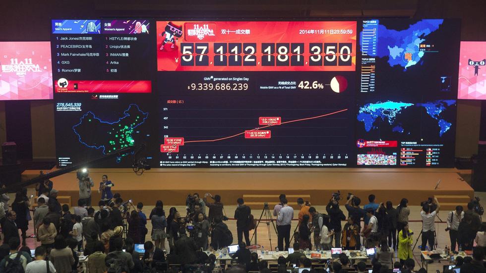 Alibaba supera los 9.300 millones de dólares en ventas en el Día del Soltero en China