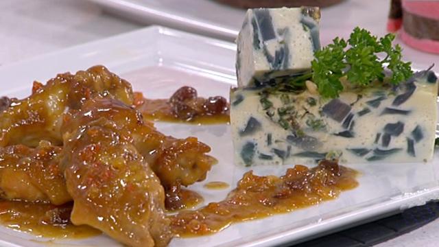 Saber cocinar - Alitas de pollo al jerez con pastel de lombarda (26/05/11)
