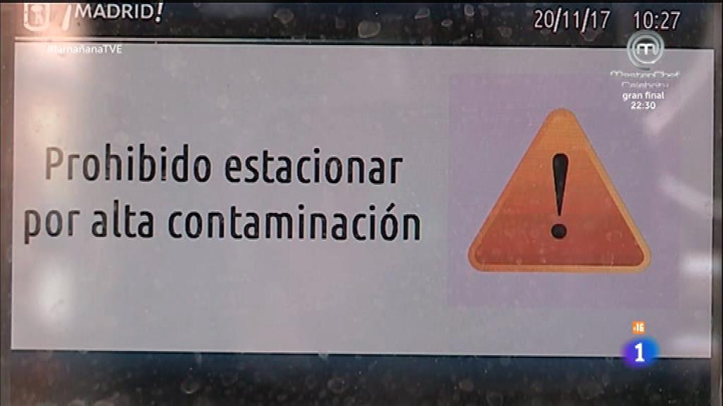 Alta contaminación en Madrid
