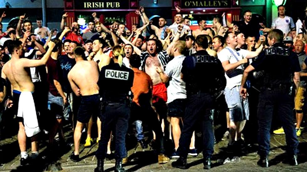 Altercados entre británicos y franceses  en Marsella