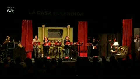 """Alumnos del Instituto RTVE participan en la grabación de la Ficción Sonora de RNE """"Café de Artistas"""", de Camilo José Cela"""
