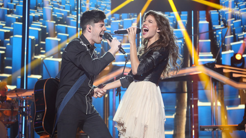 Operación Triunfo - Ana Guerra y Roi cantan 'There's nothing holdin'me back' en la Gala 4 de OT