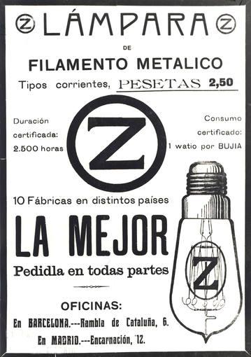 Publicidad Bombilla Antigua 2500 Horas