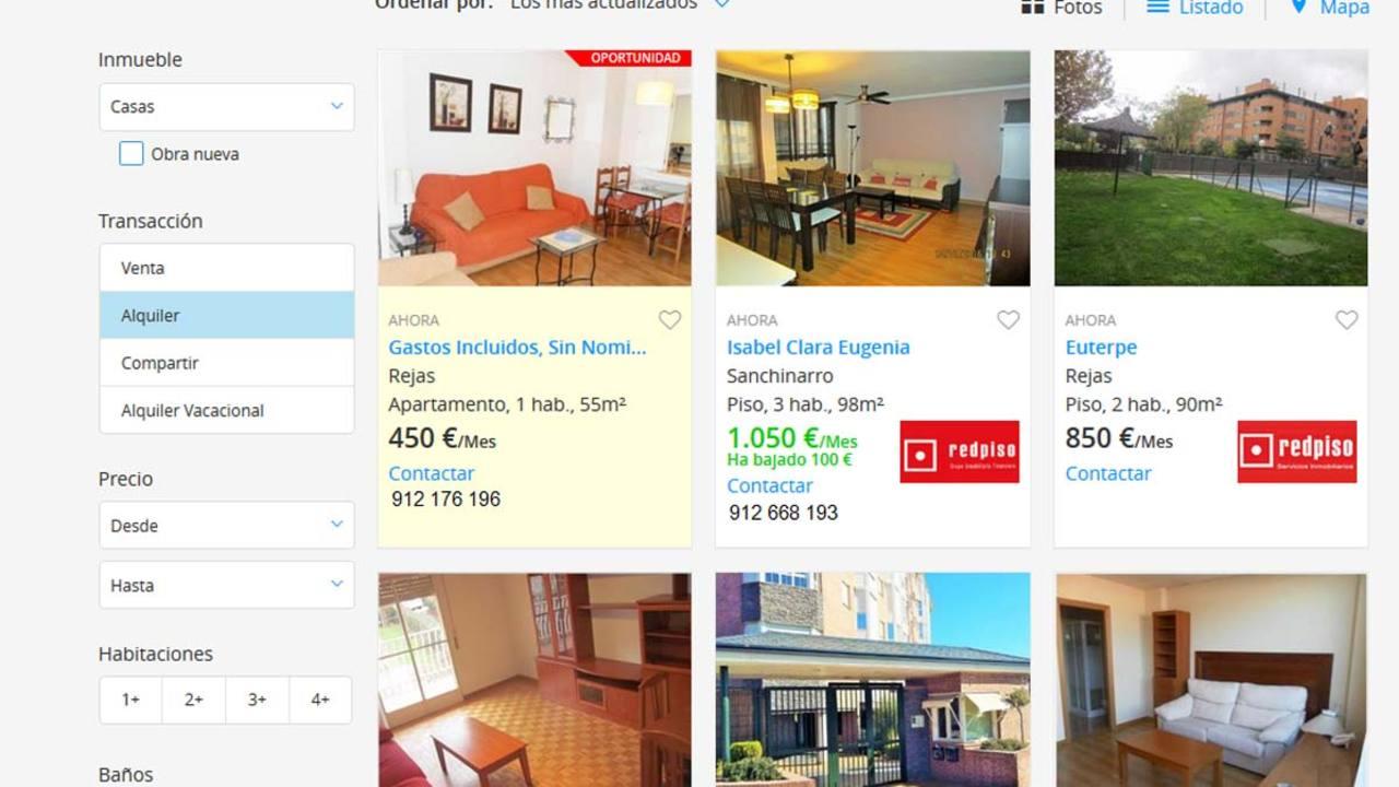 hacienda advierte a quienes anuncien pisos de alquiler en