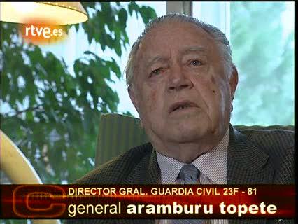 Aramburu Topete pide a Tejero que acabe con el golpe de Estado del 23-F