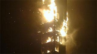 Arde 'La Antorcha', uno de los rascacielos más altos de Dubai