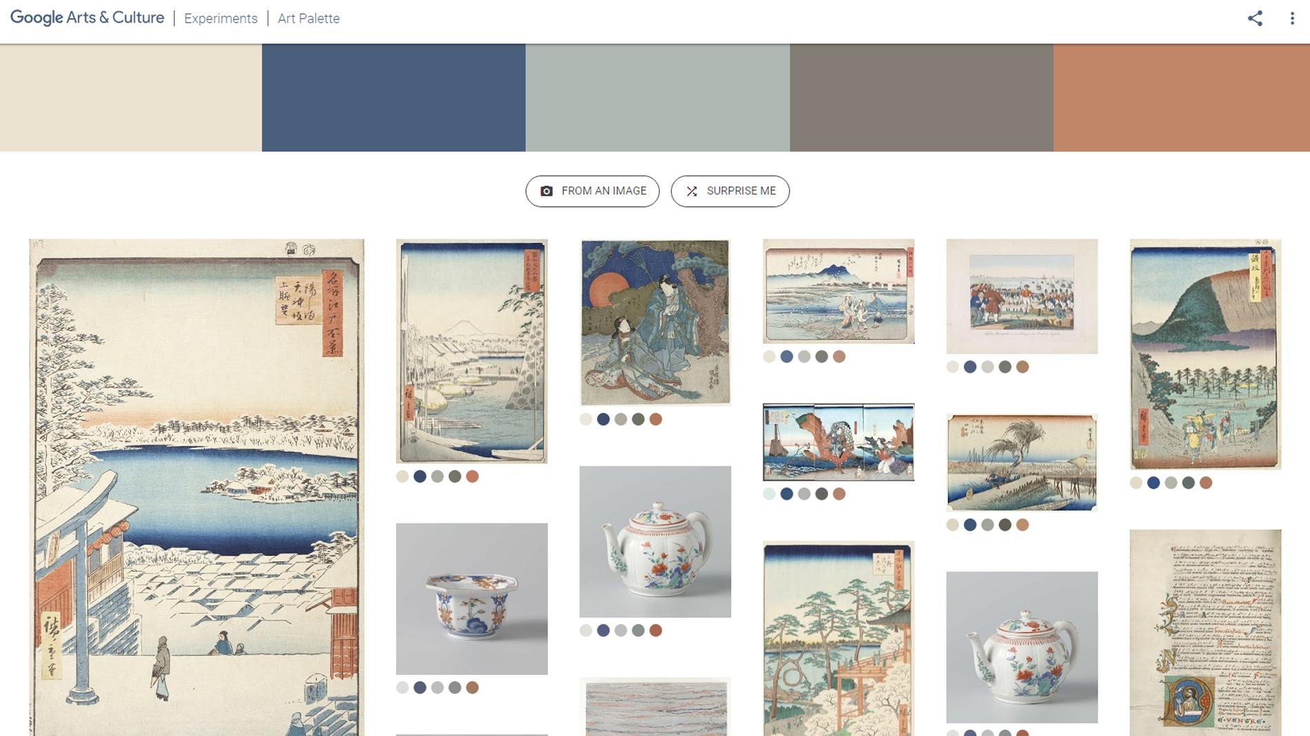 'Art Palette', el experimento de Google para localizar arte mediante inteligencia artificial