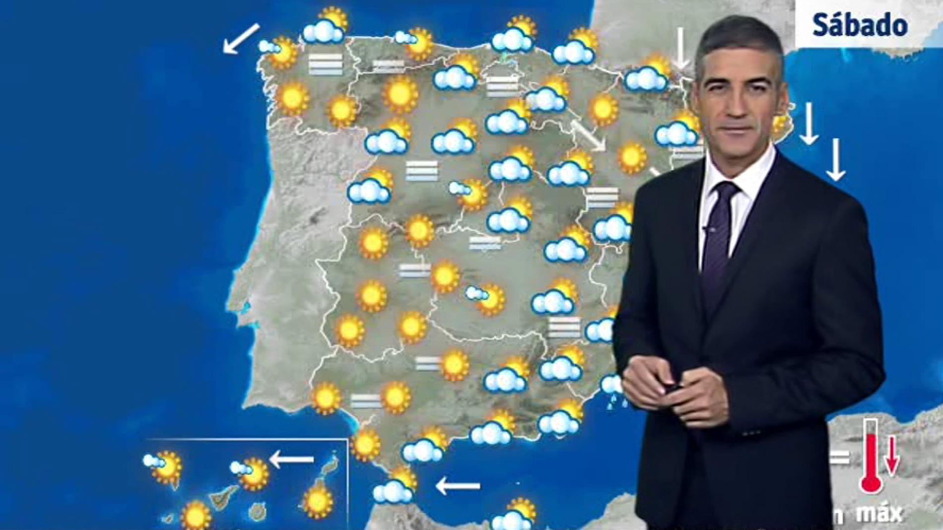 Ascenso de temperaturas en el área mediterránea y descenso en el norte de España