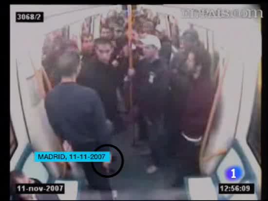 El asesinato de Carlos Palomino, grabado por las cámaras del Metro