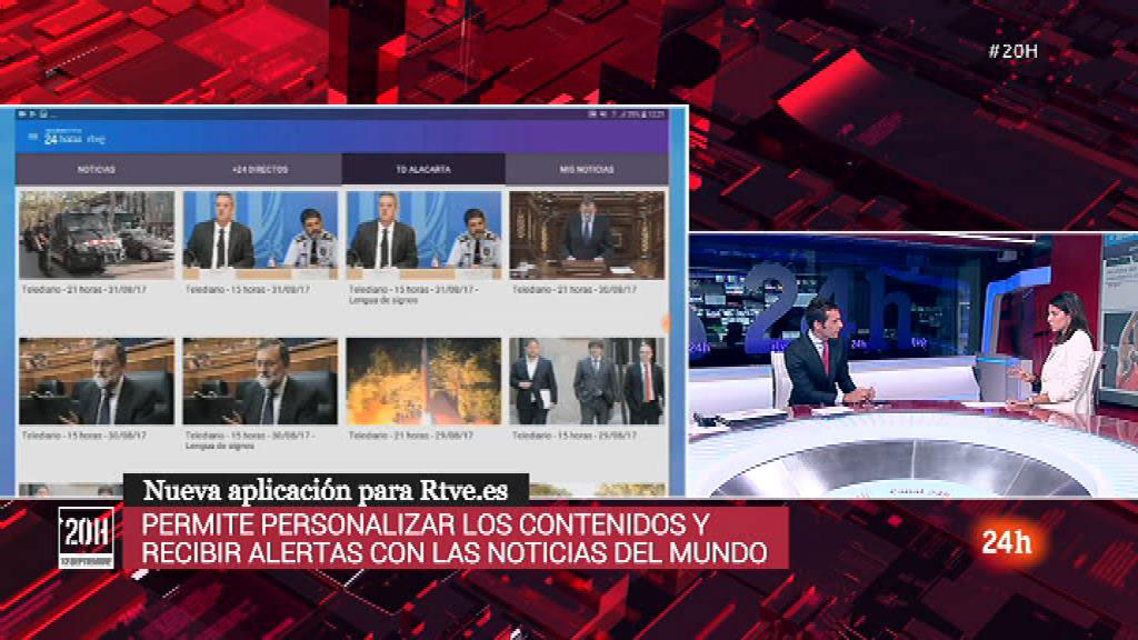 Así es la aplicación 'Informativos 24 Horas' de RTVE