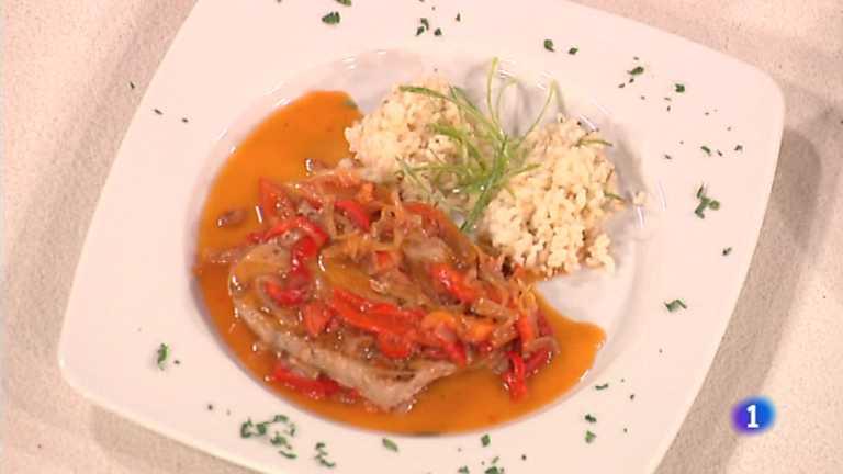 Cocina con Sergio - Atún con pimientos y arroz