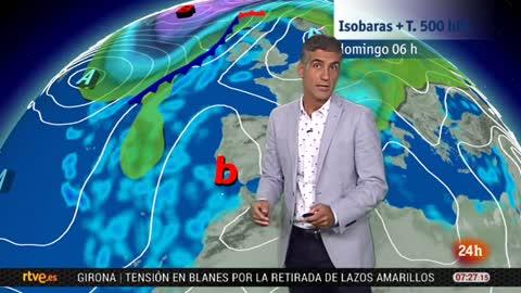 Aumento de las temperaturas y tormentas en el interior peninsular