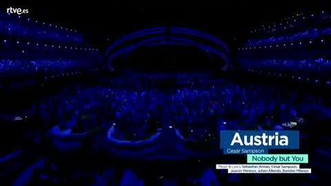 """Eurovisión - Austria: Cesár Sampson canta """"Nobody but you"""" en la final de Eurovisión 2018"""