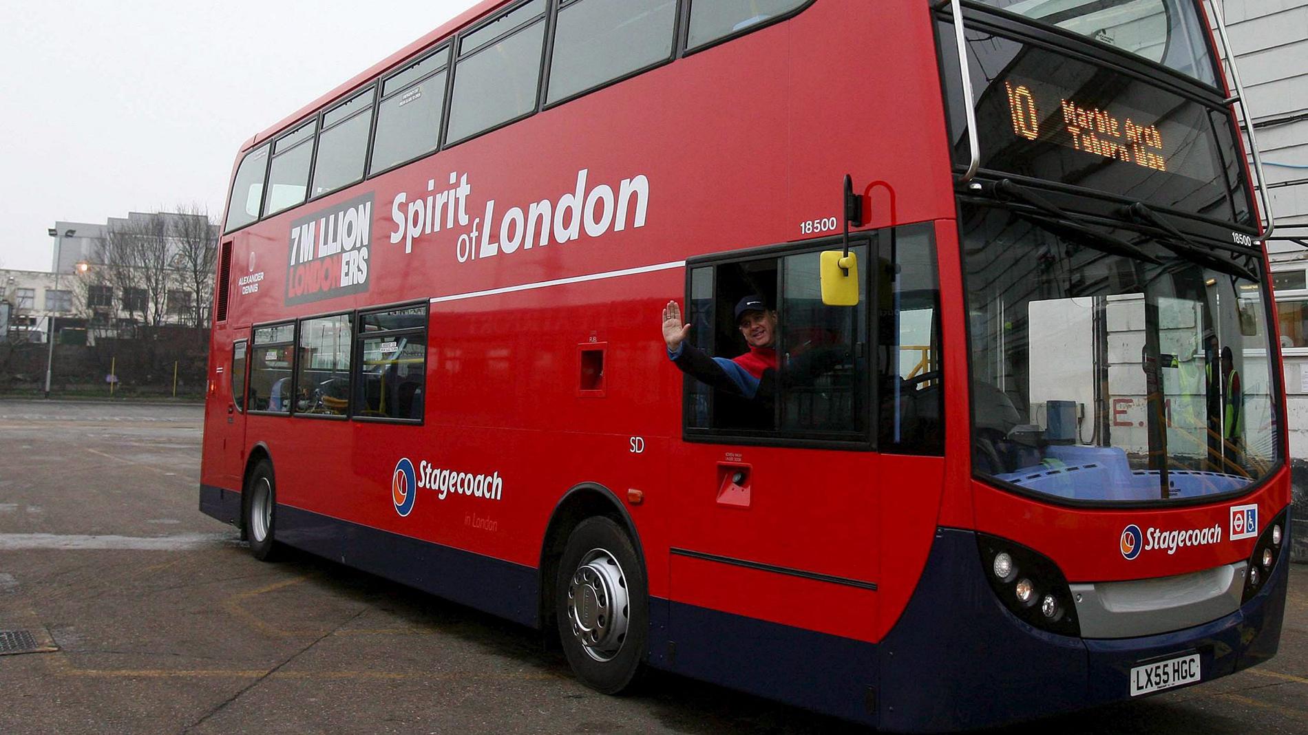 Los autobuses de Londres cambian el gasoil por café