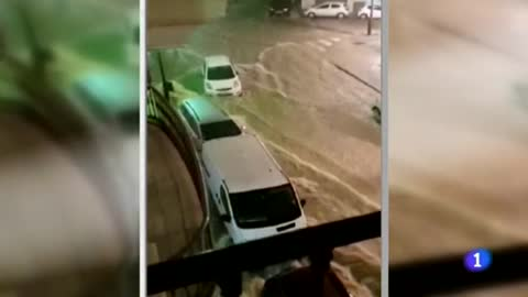 Aviso rojo en la provincia de Málaga por fuertes lluvias que acumulan ya 200 litros por metros cuadrados