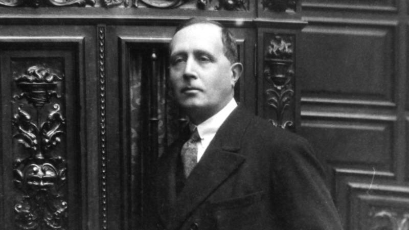 Azorín, en el Congreso de los Diputados, en 1927