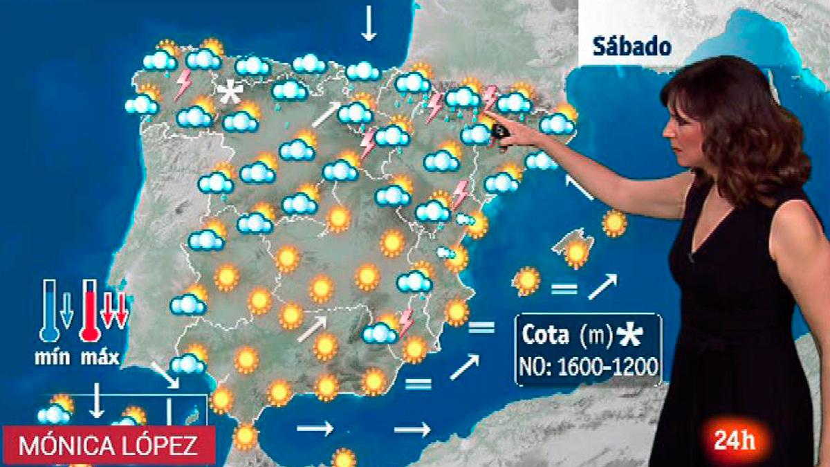 Bajada de temperaturas y chubascos, que pueden ser tormentosos, en el norte