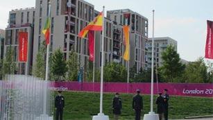 La bandera de España ya ondea en Londres