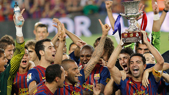 El Barça celebra la Supercopa