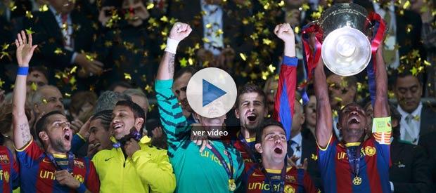 El Barcelona vuelve a tocar el cielo </br>en Wembley