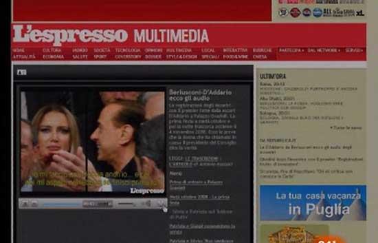 Hacen públicas grabaciones de conversaciones entre Berlusconi y una prostituta