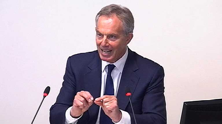 Blair comparece ante la comisión Leveson