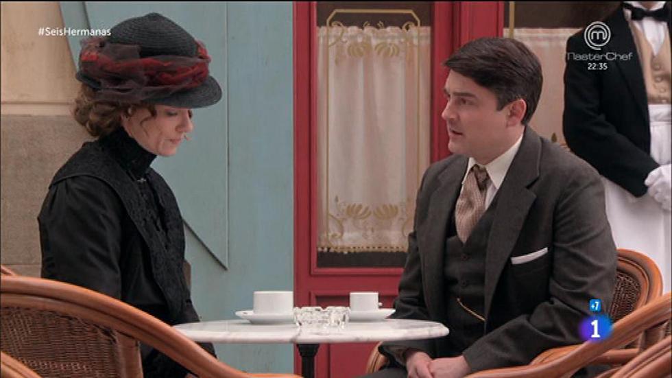 Seis Hermanas - Blanca le cuenta sus problemas con Cristóbal al secretario