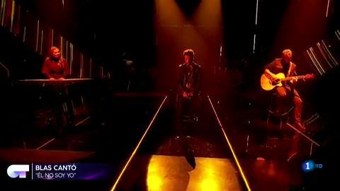 """OT 2018 - Blas Cantó canta """"Él no soy yo"""" en la gala 3"""