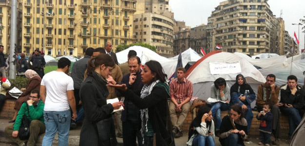 Blogueras egipcias en las protestas de El CairoRTVE.ES / Alberto Fernández