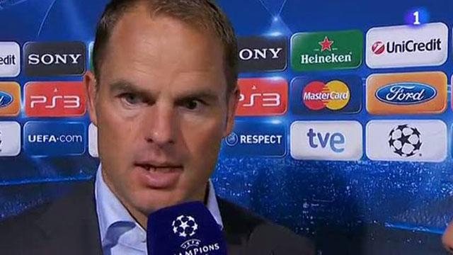 """De Boer: """"Tenemos que estar más listos"""""""