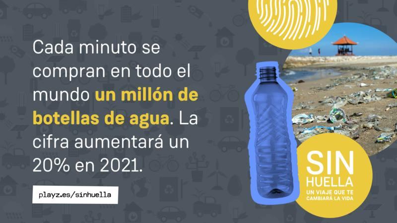 Las botellas de plástico tardan en degradarse una media de 450 años