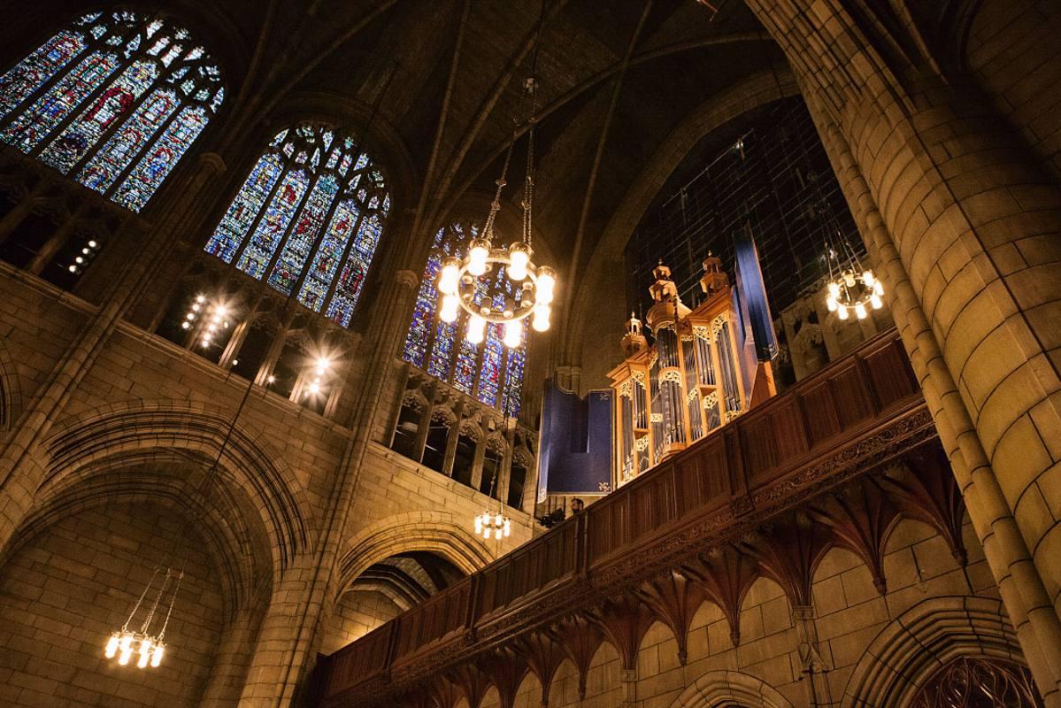 Bóvedas de la iglesia de San Juan Divino, en Nueva York, obra de Guastavino