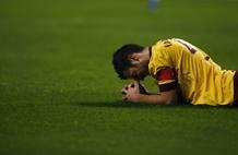 Cesc Fábregas se lamenta de una ocasión perdida frente al Braga.