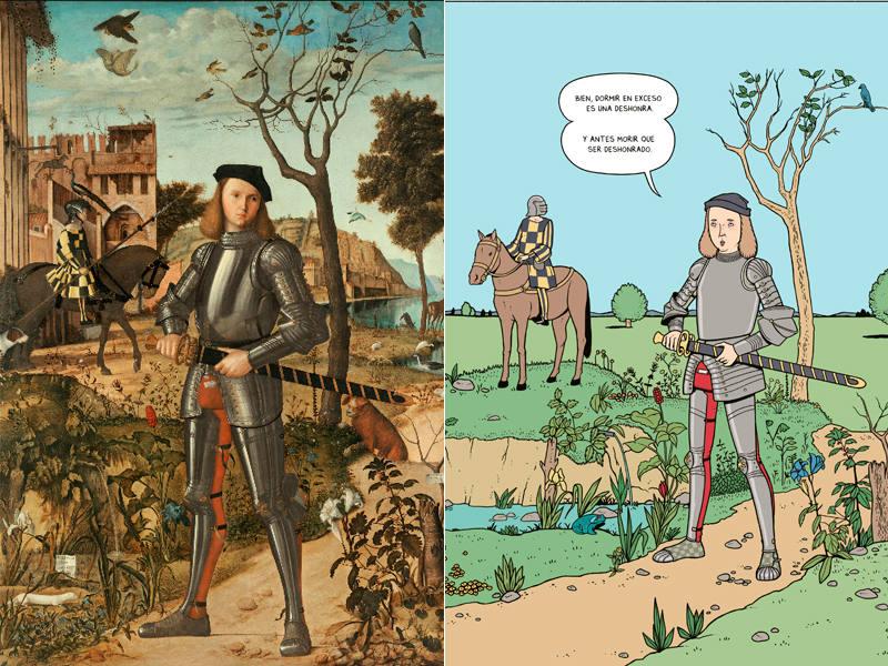 El caballero veneciano de Carpaccio y su versión en cómic