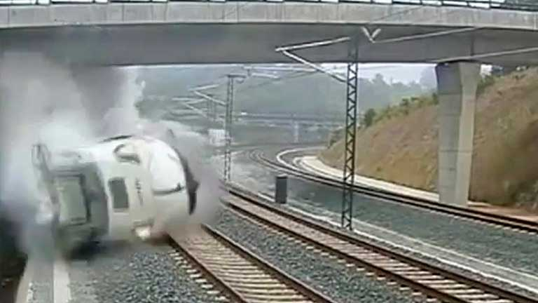 Una cámara captó el momento del accidente de tren en Santiago