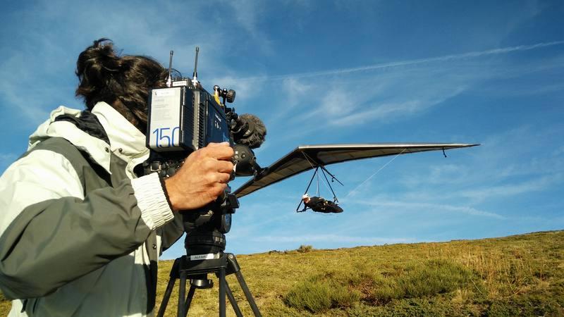 El cámara Sergio Alfaro y Blay Olmos