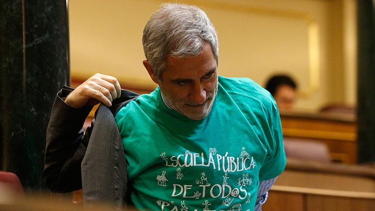 Las camisetas verdes en defensa de la educación pública llega al Congreso