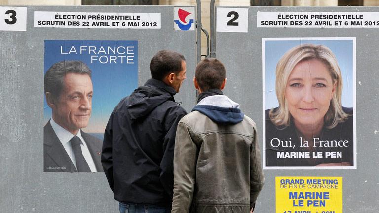 Sarkozy y Hollande miran preocupados a otros candidatos