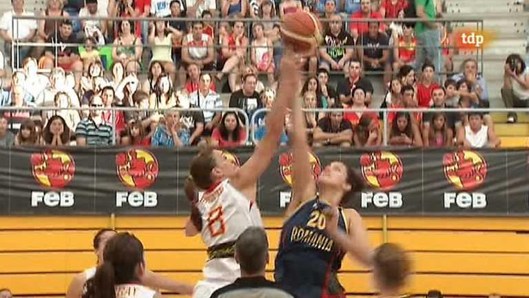 Baloncesto femenino - Campeonato de Europa: España-Rumanía